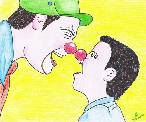 il naso rosso avvicina le persone